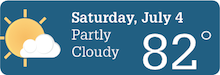 Weather Forecast Sat, July 4